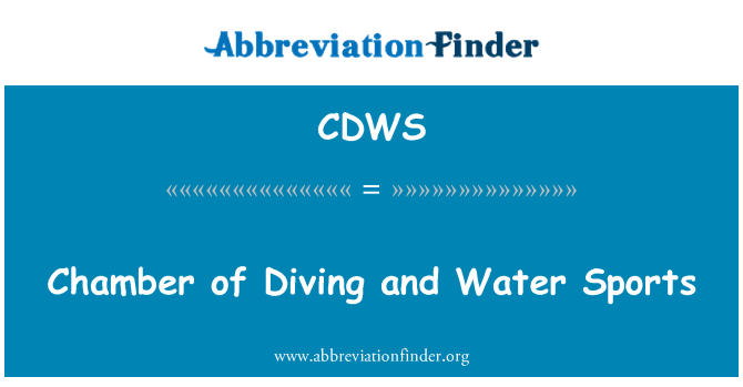 CDWS: Chamber of Diving and Water Sports