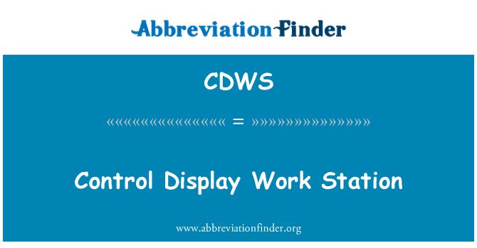 CDWS: Control Display Work Station