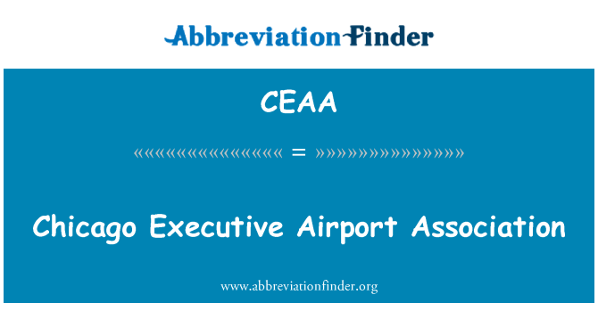 CEAA: Chicago Executive Airport Association