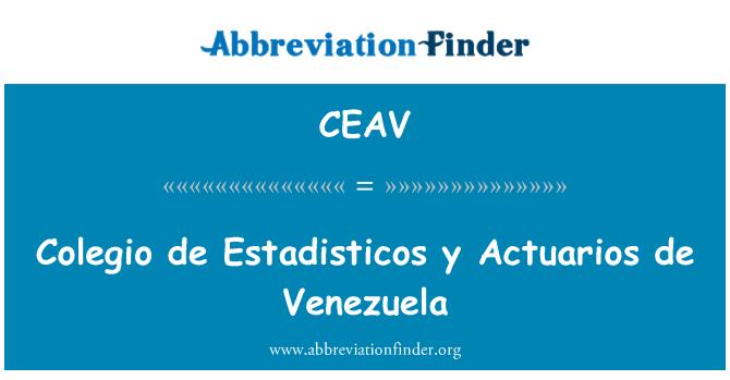 CEAV: Colegio de Estadisticos y Actuarios de Venezuela