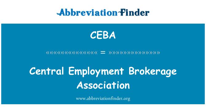 CEBA: Central Employment Brokerage Association