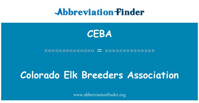 CEBA: Colorado Elk Breeders Association