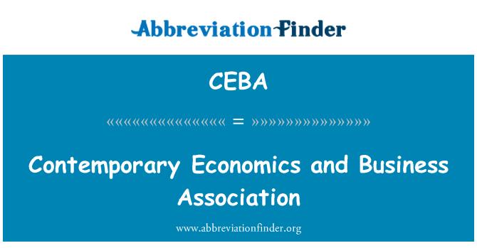 CEBA: Contemporary Economics and Business Association