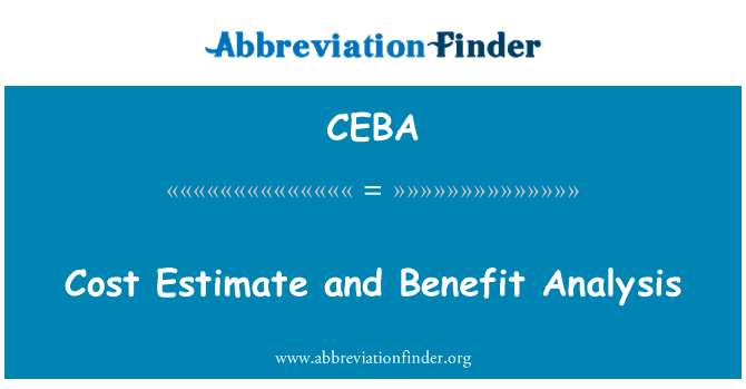 CEBA: Cost Estimate and Benefit Analysis