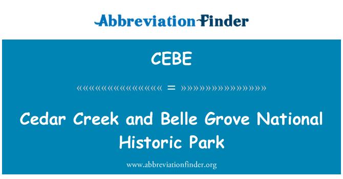 CEBE: Cedar Creek and Belle Grove National Historic Park