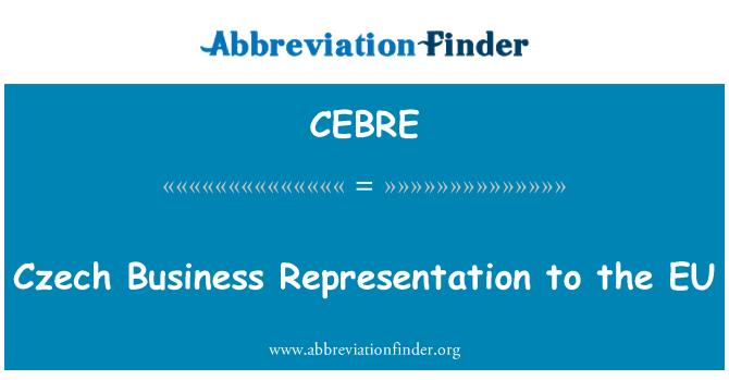 CEBRE: Czech Business Representation to the EU