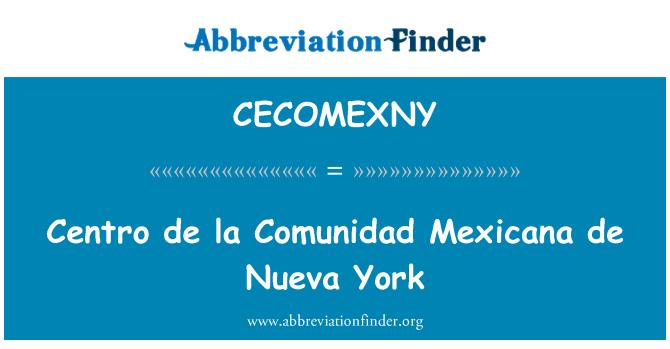 CECOMEXNY: Centro de la Comunidad Mexicana de Nueva York