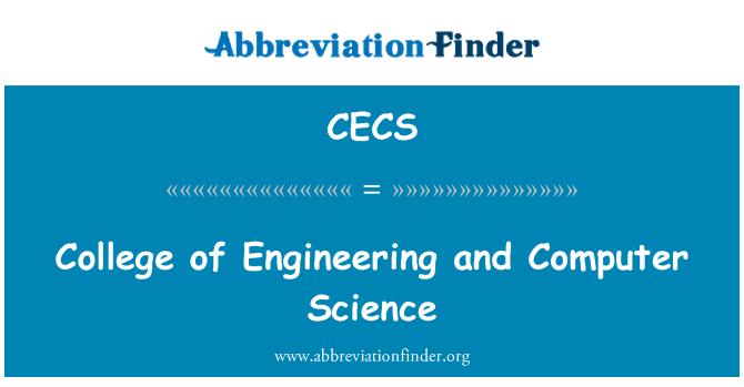 CECS: Facultad de ingeniería y Ciencias de la computación