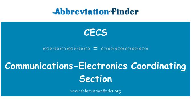 CECS: Sección de coordinación de comunicaciones-electrónica