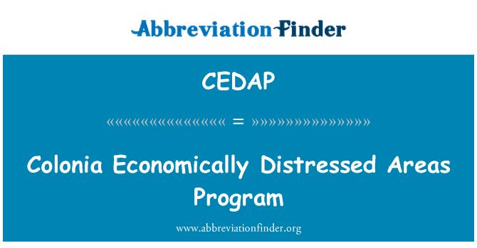 CEDAP: Colonia Economically Distressed Areas Program