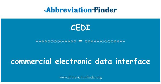 CEDI: ticari elektronik veri arabirimi