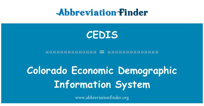CEDIS: Colorado Economic Demographic Information System