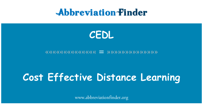 CEDL: Cost Effective Distance Learning