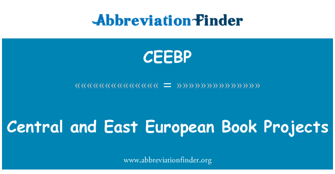 CEEBP: Central and East European Book Projects