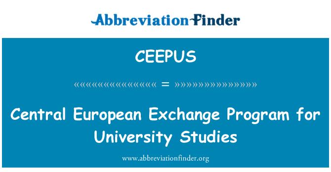 CEEPUS: Central European Exchange Program for University Studies