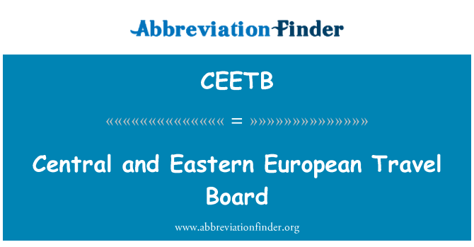 CEETB: Central and Eastern European Travel Board