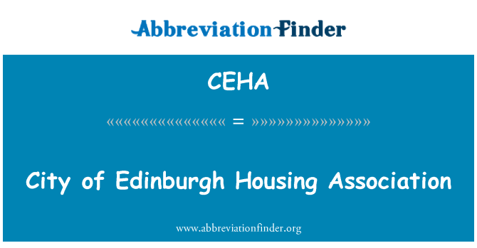 CEHA: City of Edinburgh Housing Association