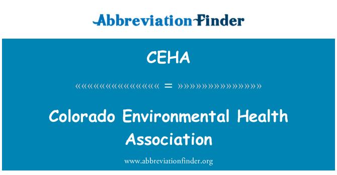 CEHA: Colorado Environmental Health Association