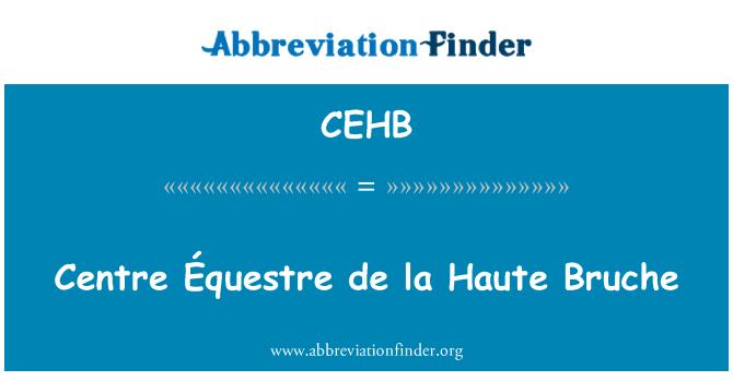 CEHB: Centre Équestre de la Haute Bruche
