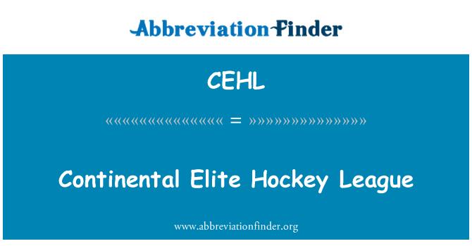 CEHL: Continental Elite Hockey League