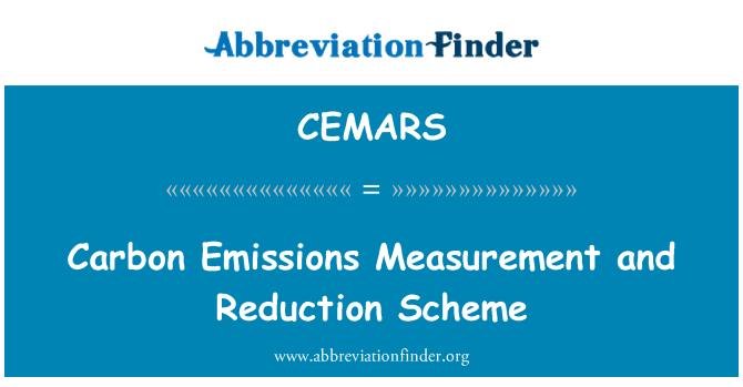 CEMARS: Carbon Emissions Measurement and Reduction Scheme