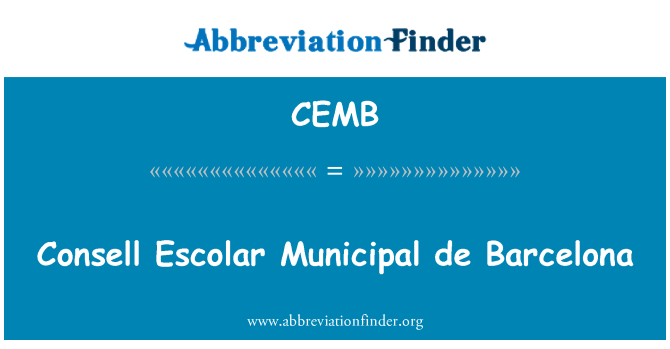 CEMB: Consell Escolar Municipal de Barcelona