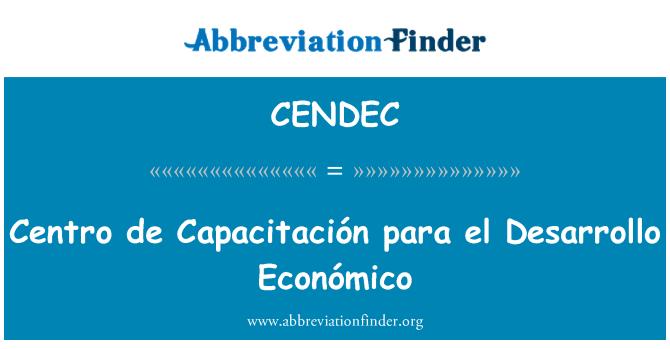 CENDEC: Centro de Couching para el Desarrollo Económico