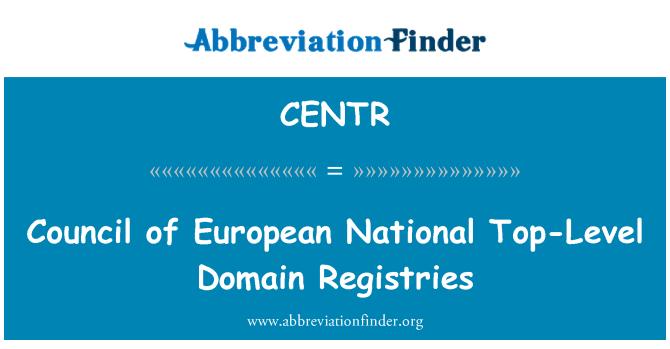 CENTR: Council of European National Top-Level Domain Registries