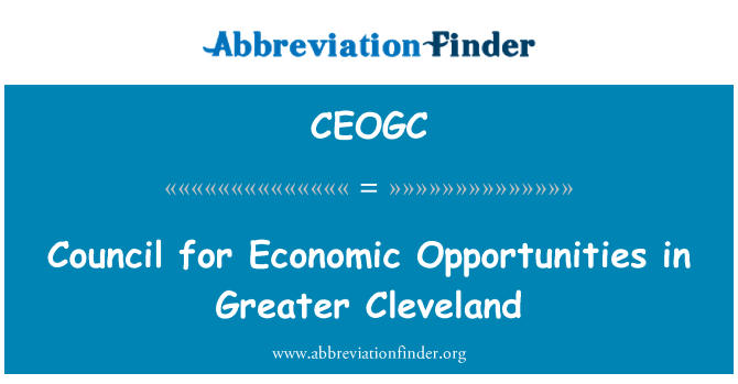 CEOGC: Council for Economic Opportunities in Greater Cleveland