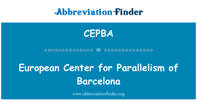 CEPBA: European Center for Parallelism of Barcelona