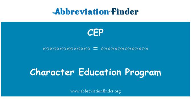 CEP: Character Education Program