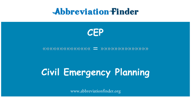 CEP: Civil Emergency Planning