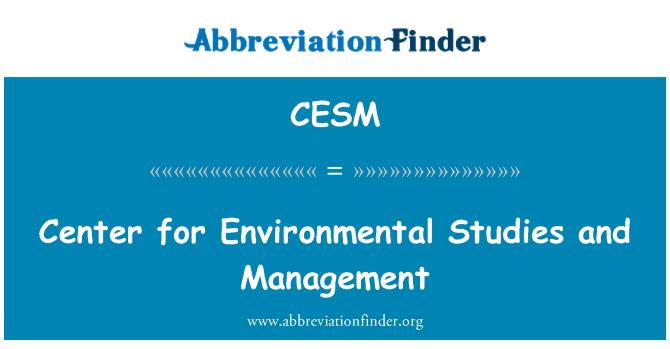 CESM: Centro de estudios ambientales y gestión