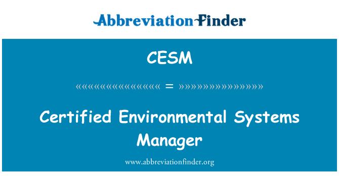 CESM: Administrador de sistemas certificado ambiental