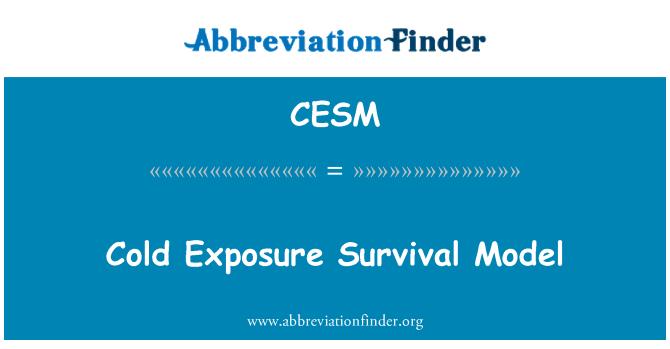 CESM: 추위 노출 생존 모델
