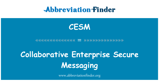 CESM: Empresa colaborativa Secure Messaging