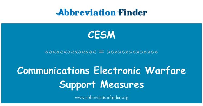 CESM: Medidas de apoyo de guerra electrónica de comunicaciones