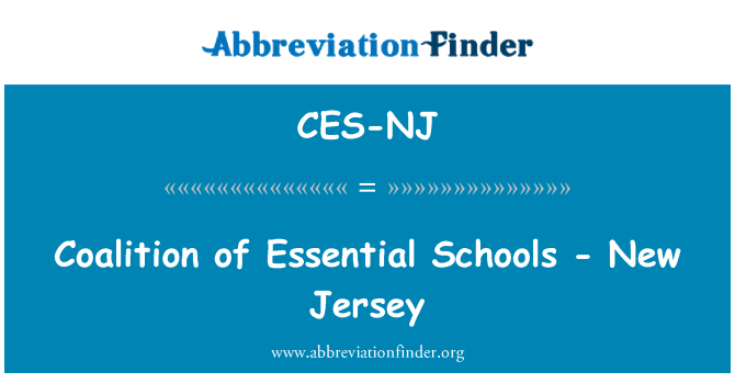 CES-NJ: Coalition of Essential Schools - New Jersey