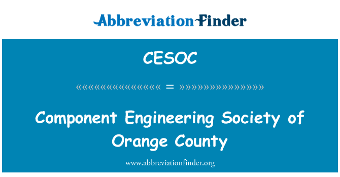 CESOC: Component Engineering Society of Orange County