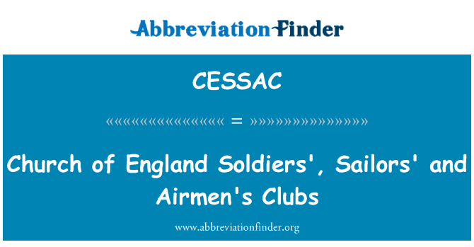 CESSAC: Church of England Soldiers', Sailors' and Airmen's Clubs