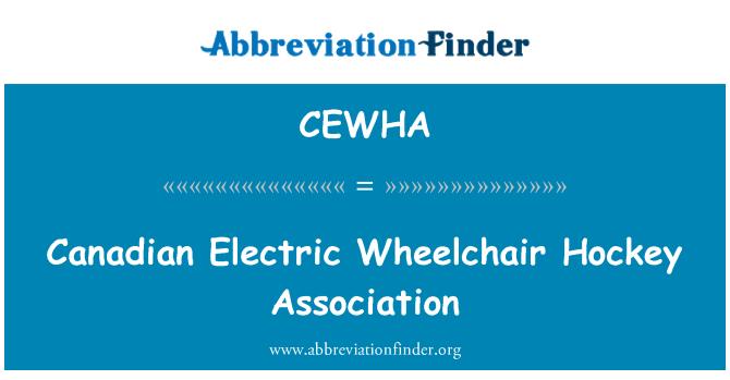 CEWHA: Canadian Electric Wheelchair Hockey Association