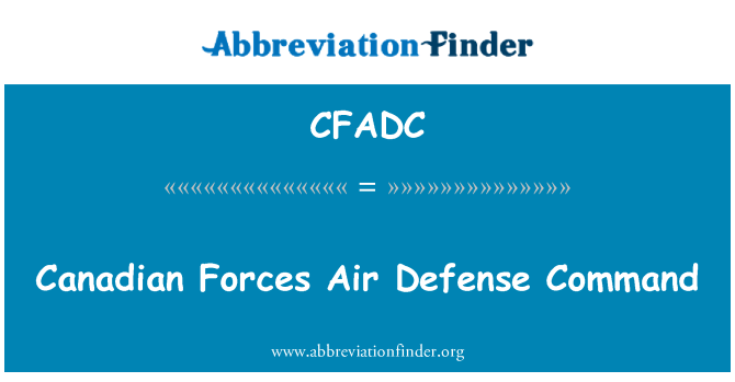 CFADC: Canadian Forces Air Defense Command
