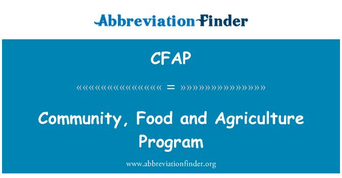 CFAP: Bendrijos, maisto ir žemės ūkio programos
