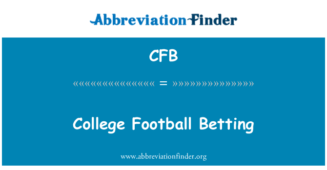 CFB: College Football Betting