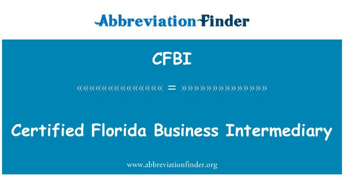 CFBI: Сертифікований Флорида бізнес Посередницькі