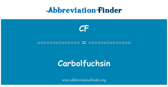CF: Carbolfuchsin