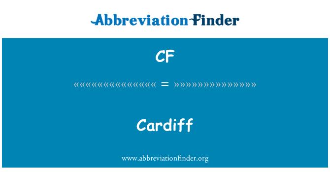 CF: Cardiff