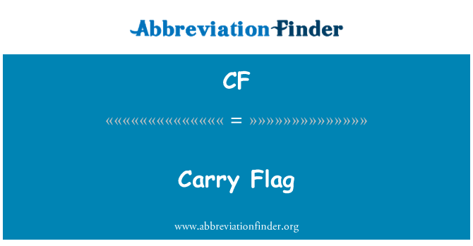 CF: Carry Flag
