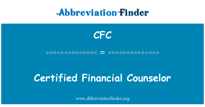 CFC: Certified Financial Counselor