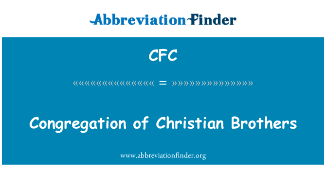 CFC: Congregation of Christian Brothers